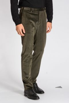 Pantaloni LEADER in Velluto Stretch
