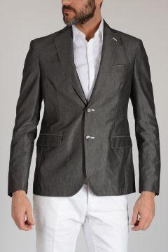 CC COLLECTION Cotton Linen Mohair Blazer