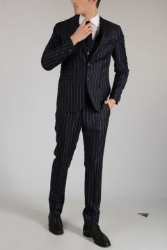 CC COLLECTION Three Pieces Striped REWARD Suit