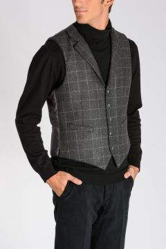 CORNELIANI ID Wool Blend & Padded Fabric Vest