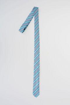 CC COLLECTION Striped Silk & Cotton Tie
