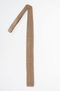 Wool and Silk Knit Slim Tie
