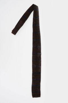 Cravatta in Maglia di Seta e Lana Bicolor