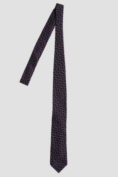 Geometric Patterned Silk Tie