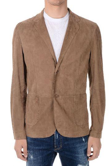 Camicia in Pelle Scamosciata