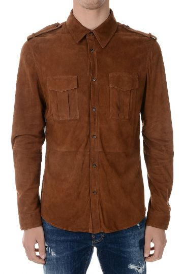 Suede Leather Shirt