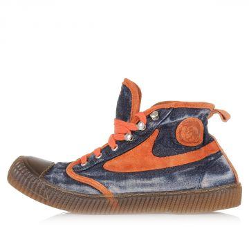 Sneakers Alte DRAAGS54 in Denim e Pelle