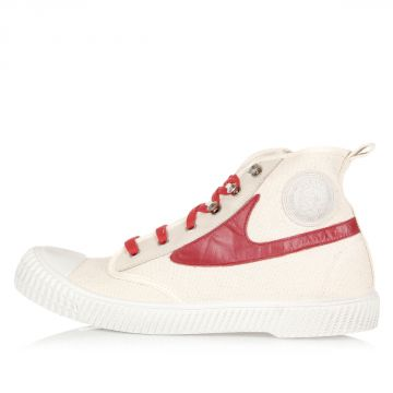 Cotton and Leather DRAAGS54 High Sneakers