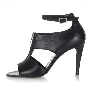 BLACK GOLD Leather VIVIEN-HHS Sandal Heel 10.5 cm
