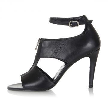 BLACK GOLD Leather VIVIEN-HHS Sandal Heel 10.5 cm