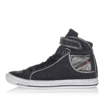 Openwork Leather NET MET W High Sneakers