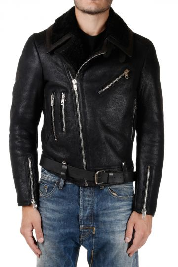 BLACK GOLD Biker Leather LASHEAR Jacket