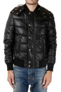 Hooded LIPIMA Leather Down Coat