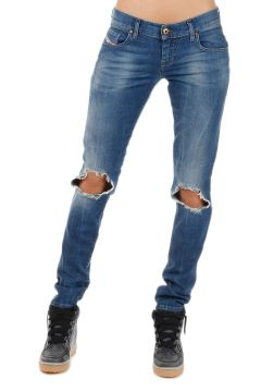 Jeans GRUPEE in Denim Destroyed 15 cm