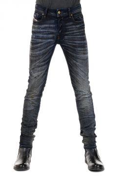 Jeans SLEENKER Denim Scuro con Strappi 15 cm