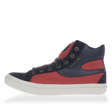 Leather and Fabric S-KWAARTZZ High Sneakers