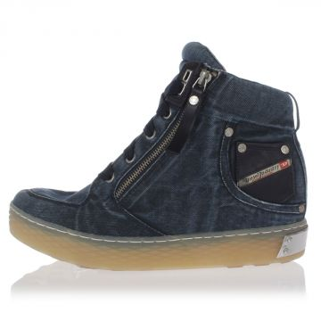 Denim BELAIR EX-POSITIONED Wedge Sneakers