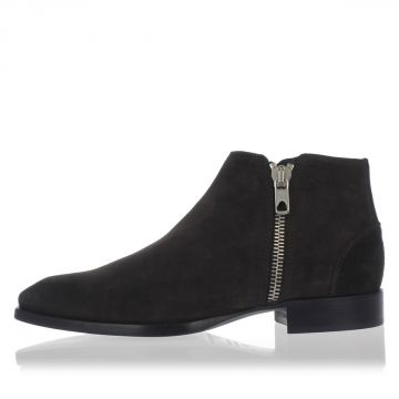 BLACK GOLD Suede REAR-ADMIRAL Ankle Boots