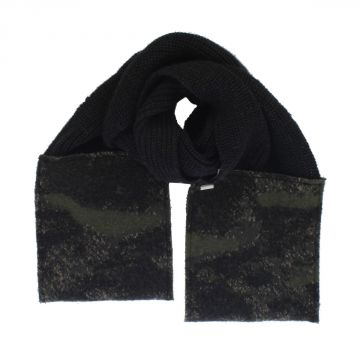 Wool Blend K-WALTER Scarf with camouflage details