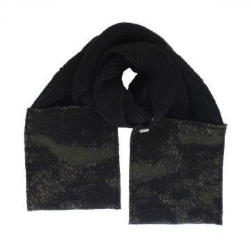 Sciarpa K-WALTER con dettaglio in Camouflage in misto lana