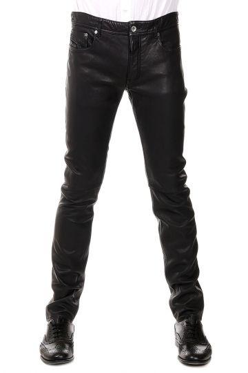 BLACK GOLD - Pantaloni LYPE in pelle d'agnello