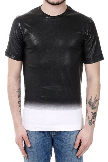 BLACK GOLD T-shirt TORICIY-B-LF in Cotone Spalmato