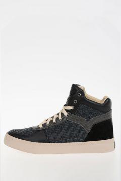 Sneakers S-SPAARK MID in Pelle Intrecciata
