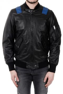 L-KITTIE Leather Bomber Jacket