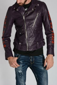Leather L-BECK-EMB Jacket