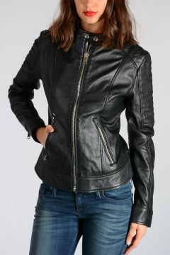 Leather L-NAYT Biker Jacket