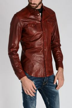 Leather L-SULRO Shirt