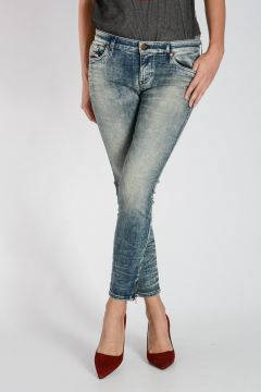 Jeans SKINZEE-LOW-ZIP in Denim Stretch 13 cm