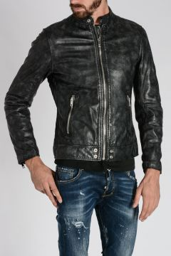 Leather L-ALL-ROW-2 Jacket