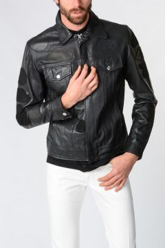 Leather L-JIMMY-PATCH Jacket