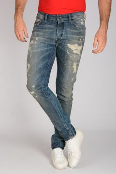 Jeans TEPPHAR in Denim Stretch Destroyed 16 cm