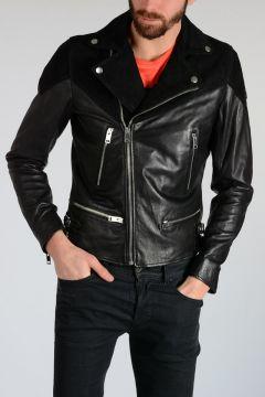 Leather L-BORT Biker Jacket