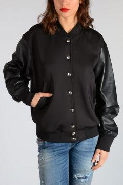 Stretch Fabric & Leather L-FLORYAN Jacket