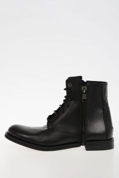 Leather D-ZIPPHIM BOOT Ankle Boots