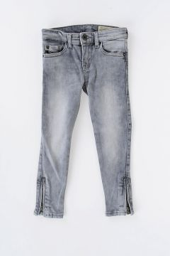 Stretch Denim SKINZEE-LOW-ZIP Jeans with Swarovski