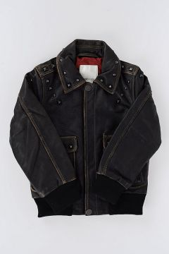 Leather JREIF Jacket With Studs