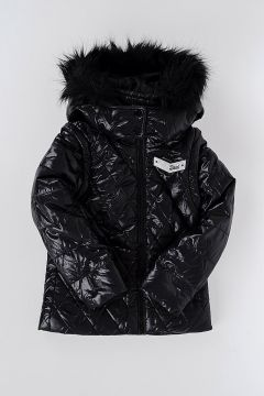 Quilted JODI Jacket with Faux Fur