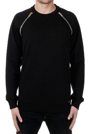 Cotton Sweatshirt Zip Details