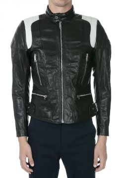 L- STONE Leather Biker Jacket