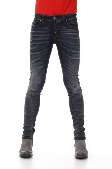 15 cm Dark Destroyed Denim SLEENKER Jeans
