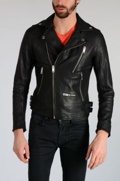 TIMELESS Leather L-GIBSON-1 Biker Jacket