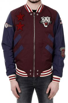 J-TENDENCY Nylon Bomber Jacket with Patch