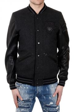 L-DANNY Embroidered Leather Sleeves Jacket