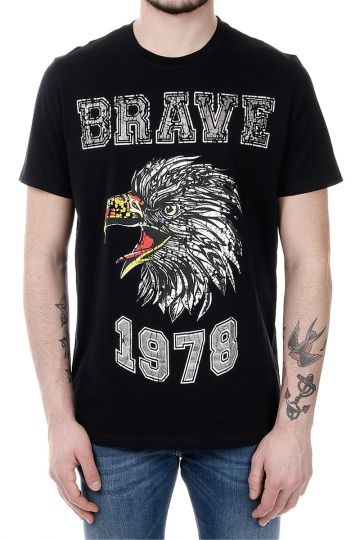 T-JOE-B Eagle Print Cotton T-shirt
