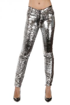 Pantaloni SALLY TROUSERS con Paillettes