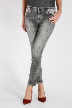 Jeans SKINZEE-LOW in Denim Stretch Destroyed 14 cm
